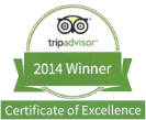 Mr. Sticky's - Tripadvisor Certificate of Excellence - 2014 Winner