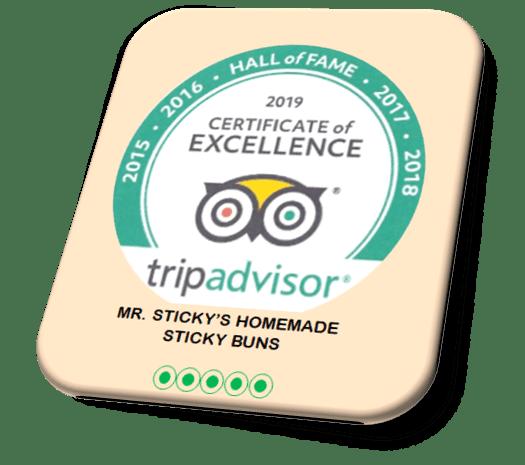 Mr. Sticky's - Tripadvisor Certificate of Excellence